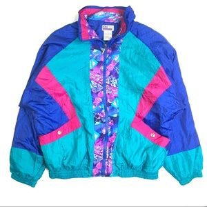 Vintage 1990s Colorful Windbreaker Size Medium